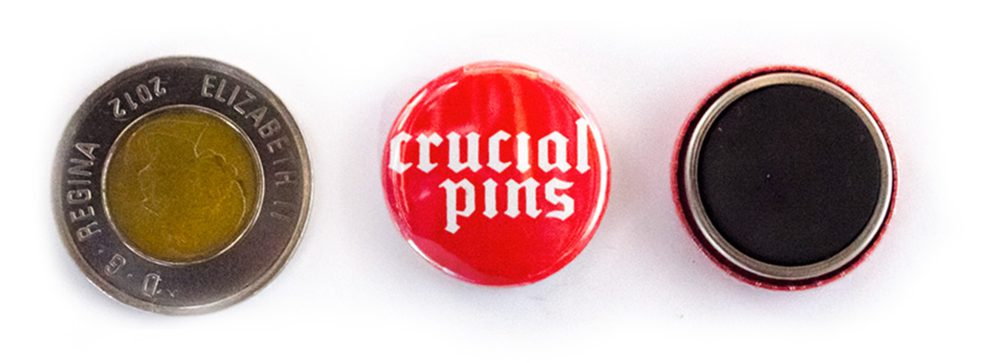 Crucial Pins | Custom Pin Back Buttons and Magnets Toronto